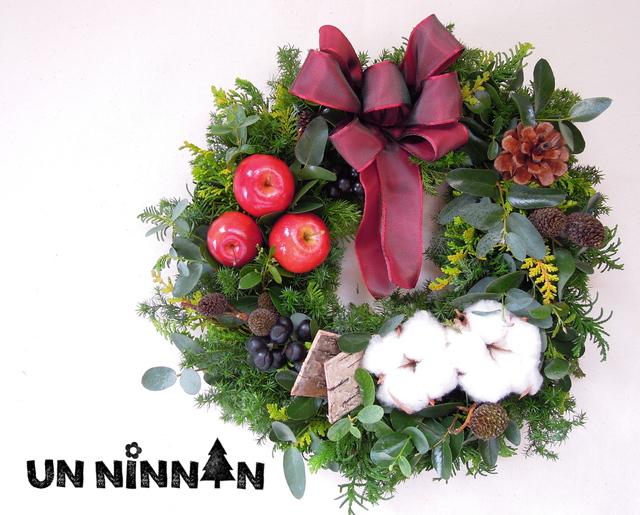 *8ナチュラル クリスマスリース