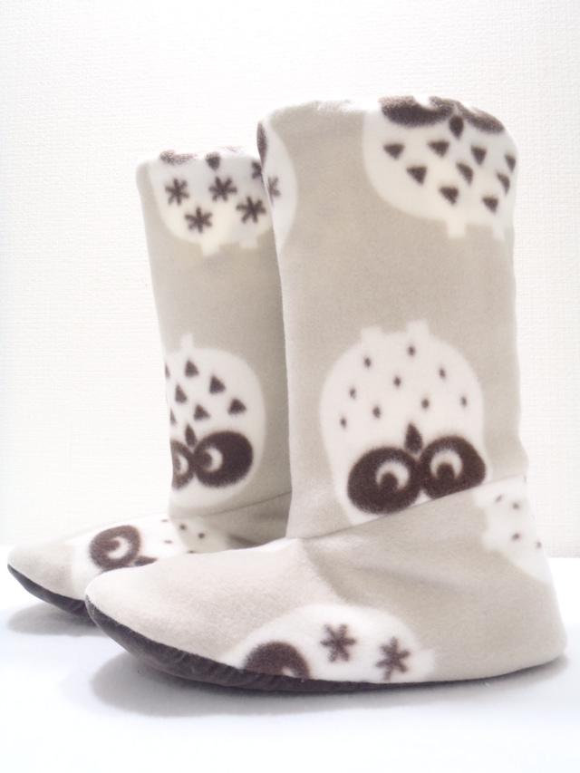 ブーツ型ルームシューズ(フクロウ)3...