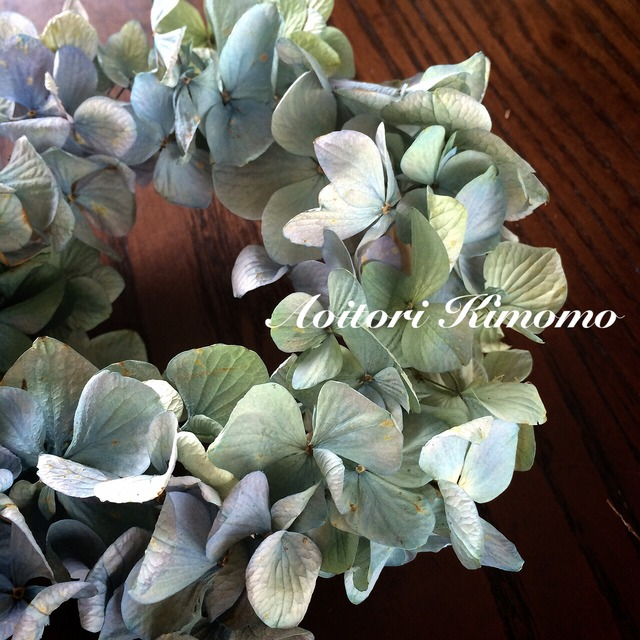 ≪送料無料≫プレミアムブルーな紫陽花ミニリース