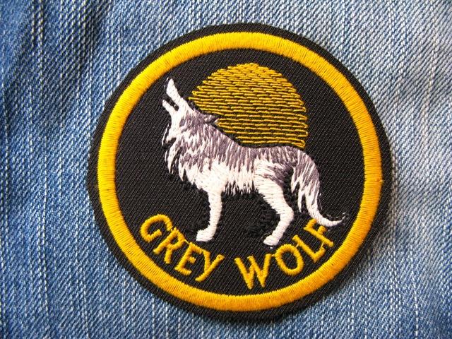 アウトドア Outdoor オオカミ ウルフ 刺繍ワッペン・パッチ