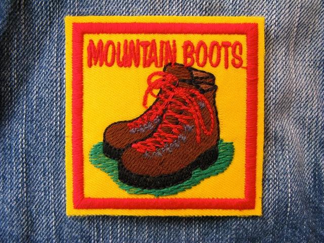 アウトドア Outdoor 登山靴 ブーツ 刺繍ワッペン・パッチ