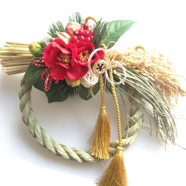 稲なわのおしゃれモダンしめ縄飾り