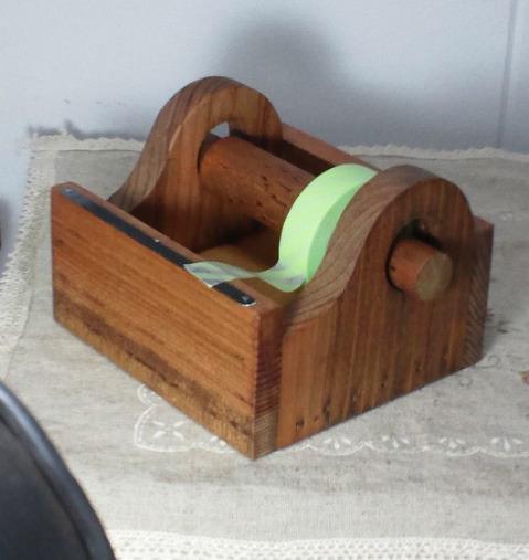 ミニマスキングテープカッター(自然素材のワトコオイル仕上げで安心)