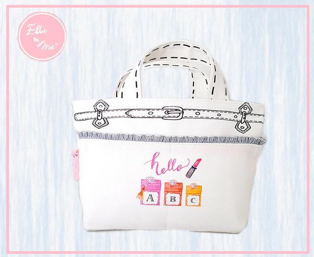 【Sale!!】オシャレオフィスレディのホワイトミニトート