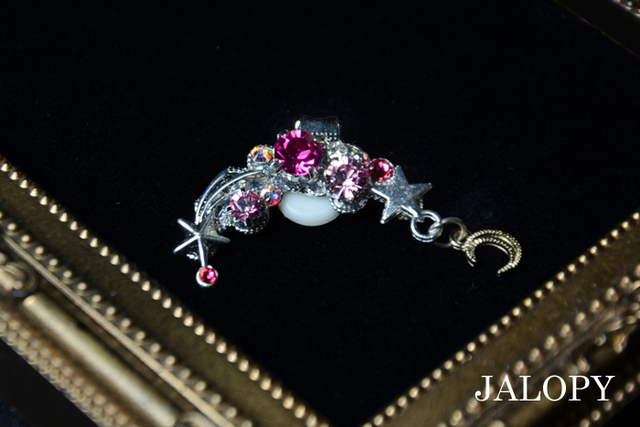 宝石流星群のイヤーカフ-ピンクスターラ...