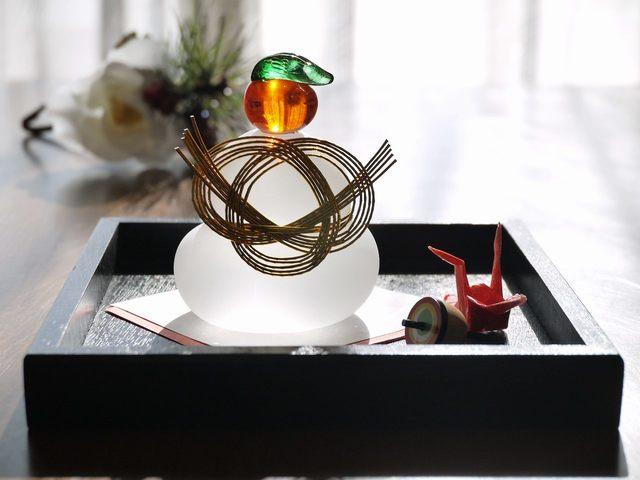 鏡餅Set (独楽、折り鶴)今年のラスト
