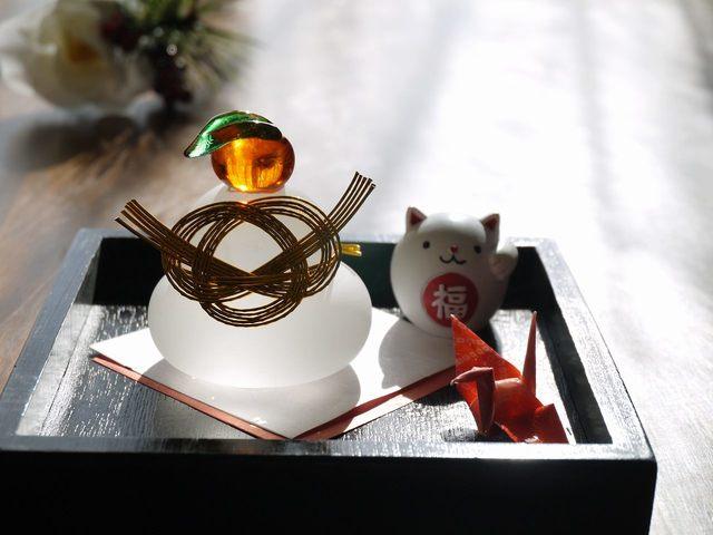 鏡餅Set (招き猫、折り鶴)今年のラスト
