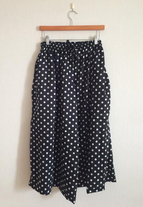 polka dots  Long culotte -cotton-