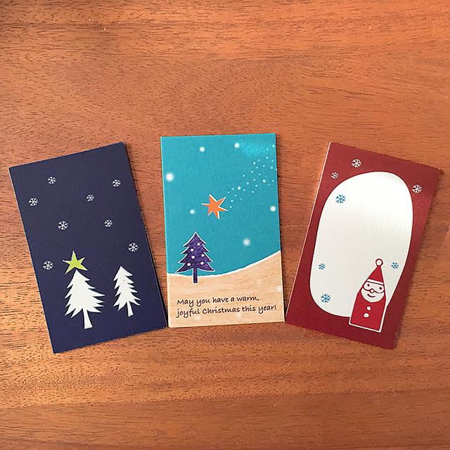 クリスマスカードセット(3種x各5枚 15...