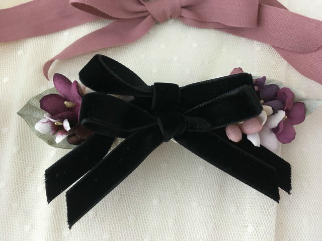 スミレリボンバレッタ black(L)