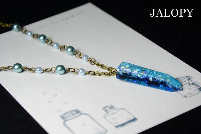 オーロラ結晶のネックレス-星空-