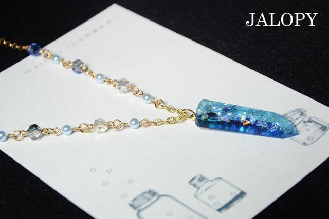 オーロラ結晶のネックレス-氷上-