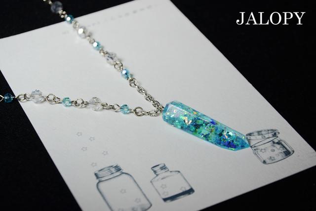 オーロラ結晶のネックレス-オリオン-