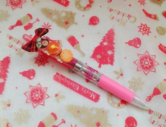クリスマスちびケーキ☆デコペン(ピンク)