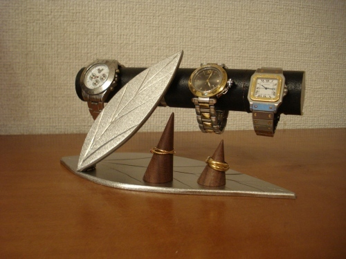 彼にプレゼント ダブルリーフダブルリング腕時計スタンド スタンダード
