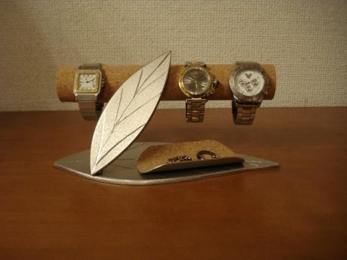 ダブルリーフ小物入れ付き腕時計収納スタンド スタンダード