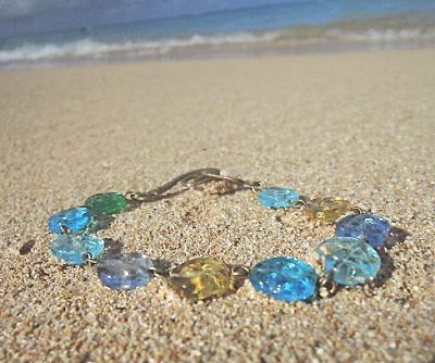 Swirl beach bracelet