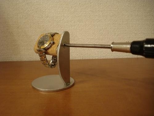 新作!プラスドライバーでだ円パイプの角度を変えることが出来る腕時計スタンド スタンダード