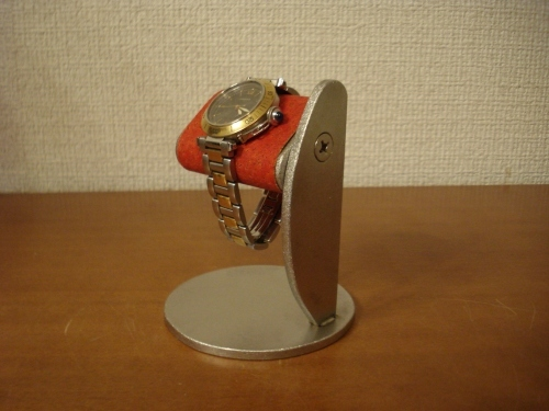 新作!プラスドライバーでだ円パイプの角度を変えることが出来る腕時計スタンド レッド!
