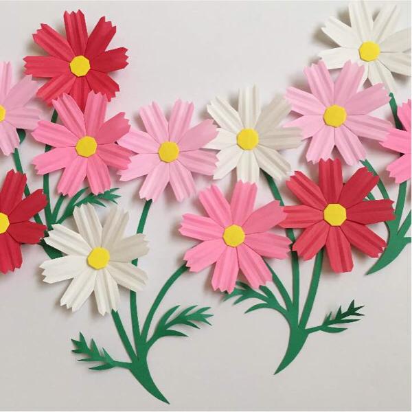 簡単 折り紙:折り紙 壁飾り-minne.com