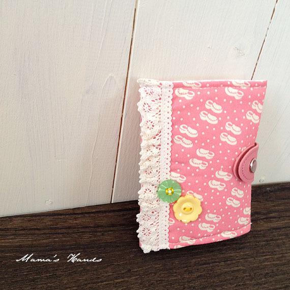 ★20% off SALE★ ビンテージ風 くつ ピンク カードケース♪