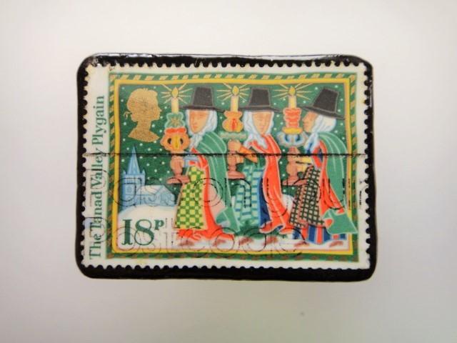 イギリス クリスマス切手ブローチ2021