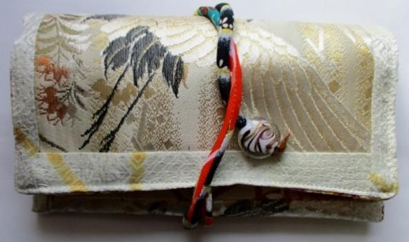 着物リメイク 絞りと帯で作った和風財...