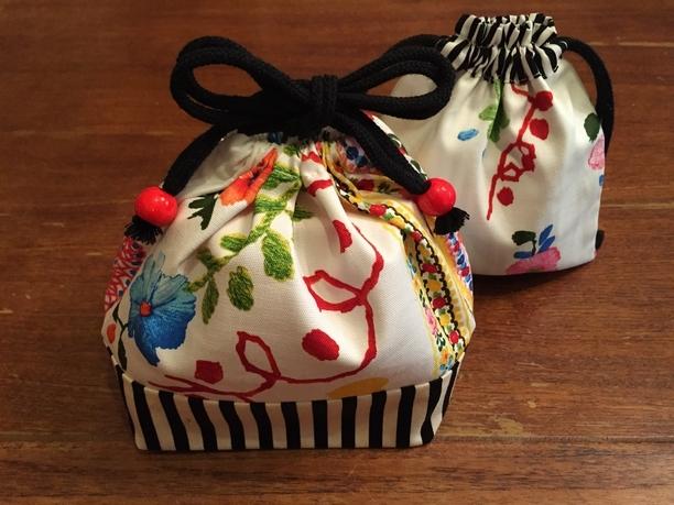 刺繍柄のお弁当袋&コップ袋セット