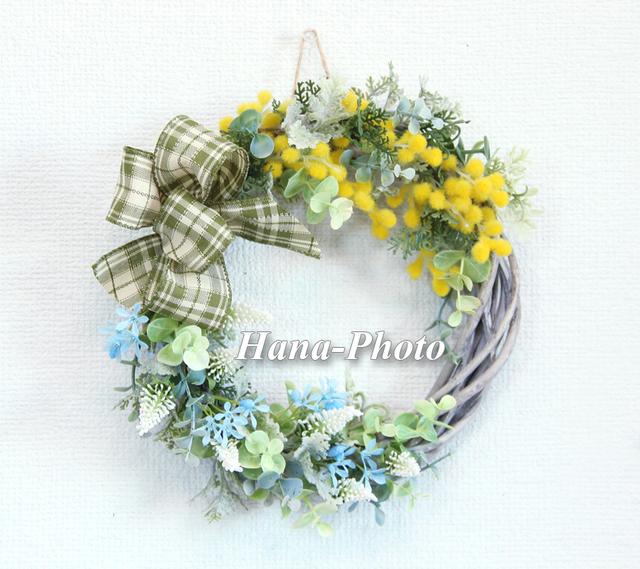 033) ブライトミモザの早春リース