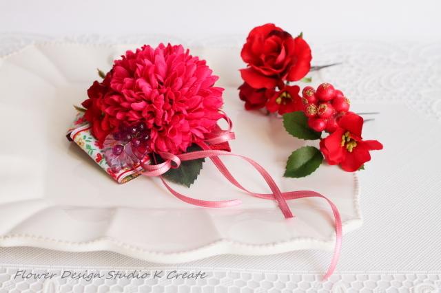 マムと薔薇のヘッドドレス(3点セット)