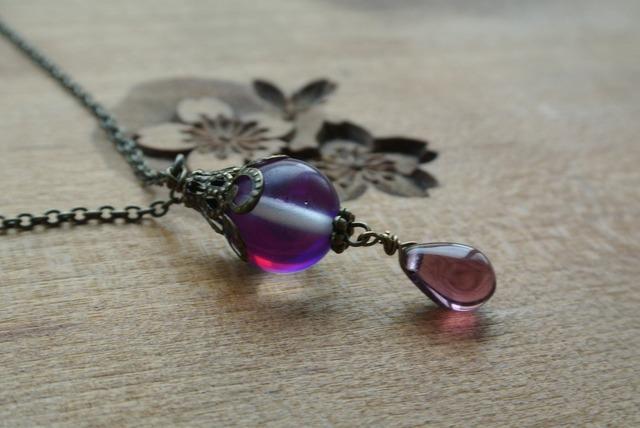 手毬屋 紫月光玉 ネックレス