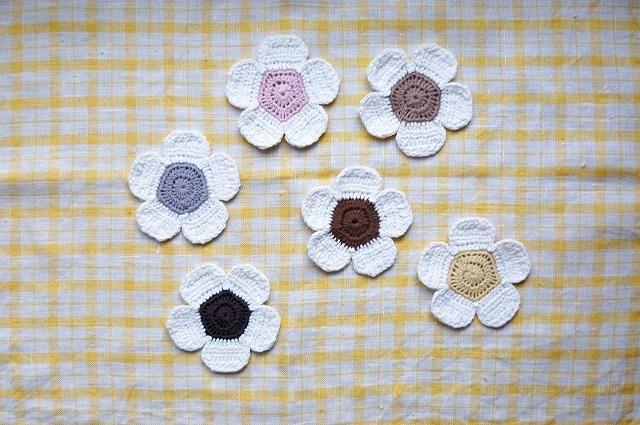 お花のコースター 6枚セット
