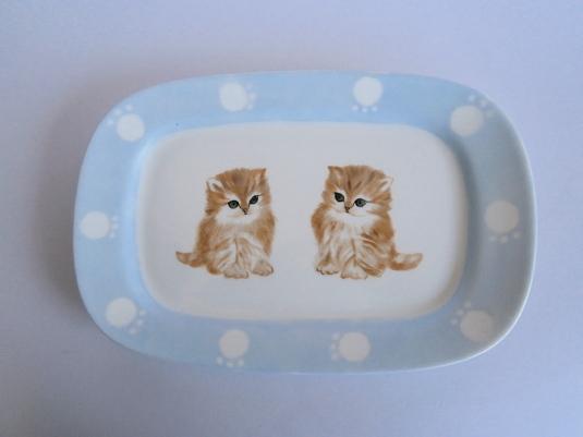 子猫の絵皿