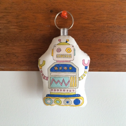ロボット1号☆ふかふかキーホルダー