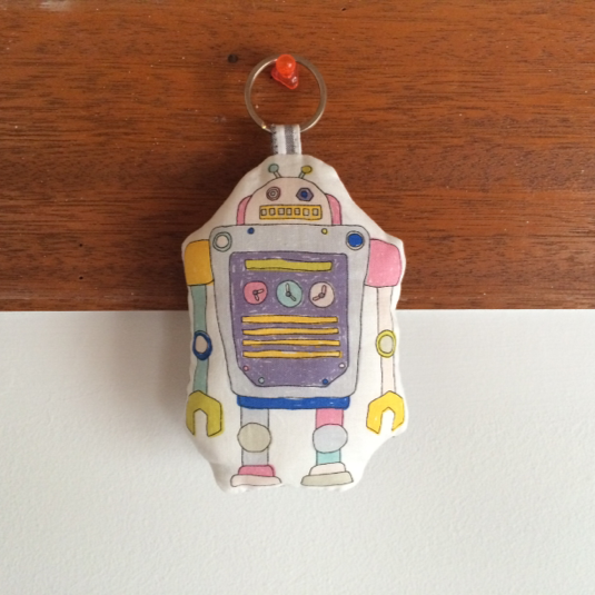 ロボット2号☆ふかふかキーホルダー