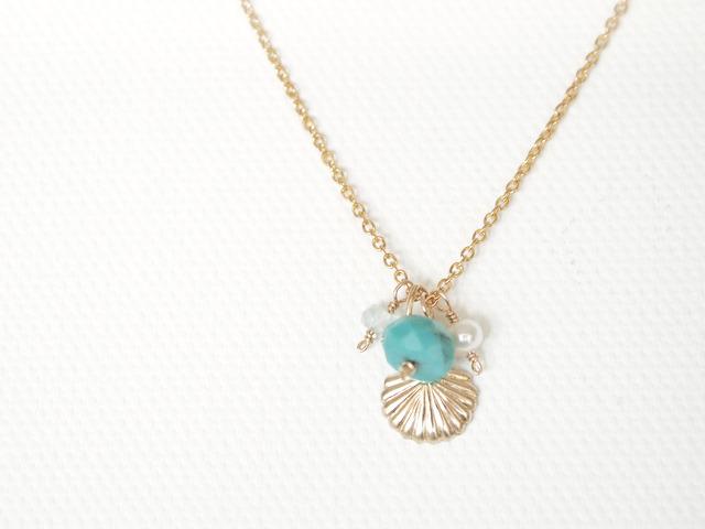 14KGF Mermaid Necklace