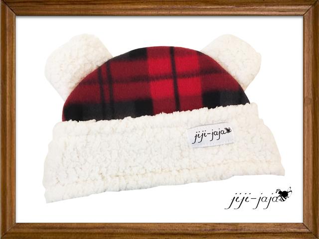 くまさん耳のbaby帽子<red>