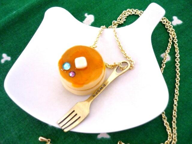 ホットケーキのネックレス
