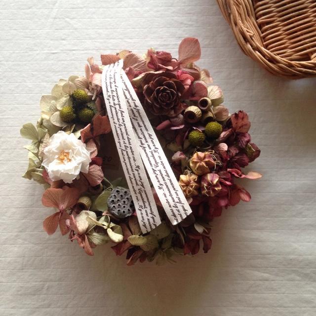 グリーンボルドーのmini wreath