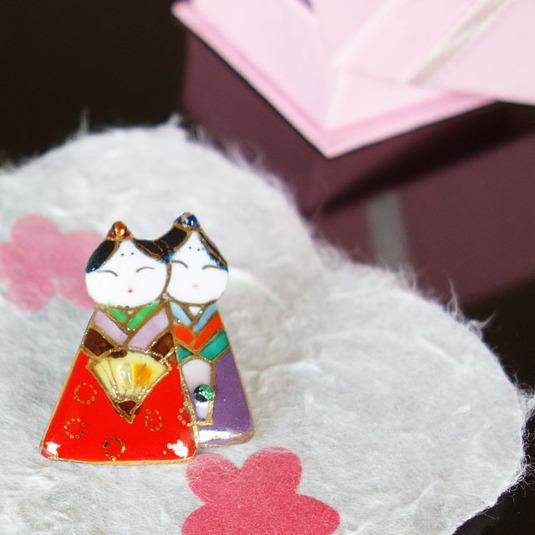 雛人形 ピンブローチ(ピンバッジ、ピンズ)1