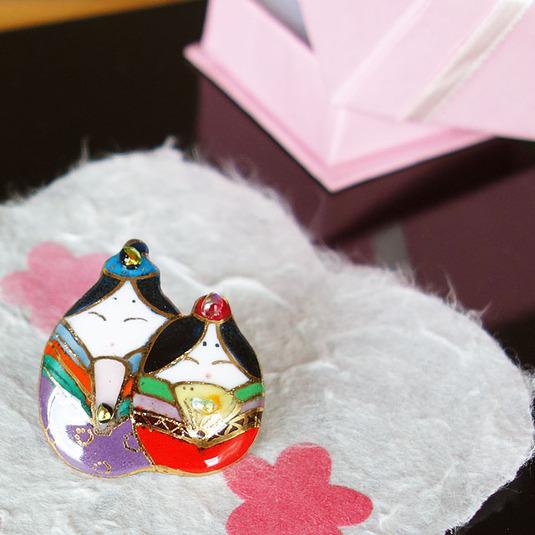 雛人形 ピンブローチ(ピンバッジ、ピンズ)2