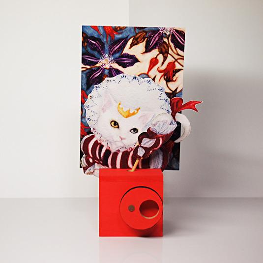工作キット ツインクランク コラボ作品02「エリザベス猫」