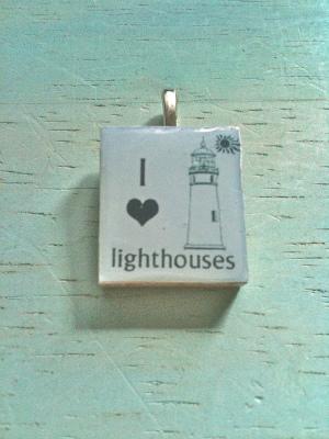 I?lighthouses スクラブルタイル・ペンダントヘッド