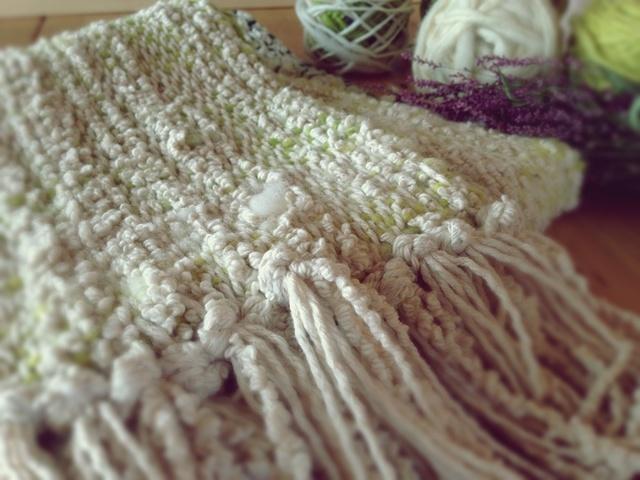 手織り・手紡ぎ モコモコのスヌード