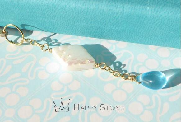 淡水真珠と空色雫のブックマーカー