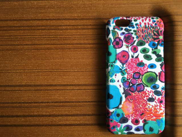*iPhone5/5s/5c/6/6s*Small Artist's Bloom*RD*リバティ*カバー*ケース