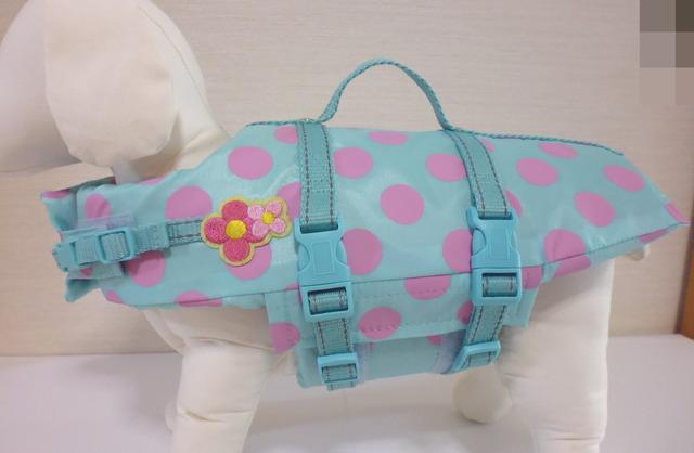小型犬(S)のライフジャケット・ブルー:ピンク (7)