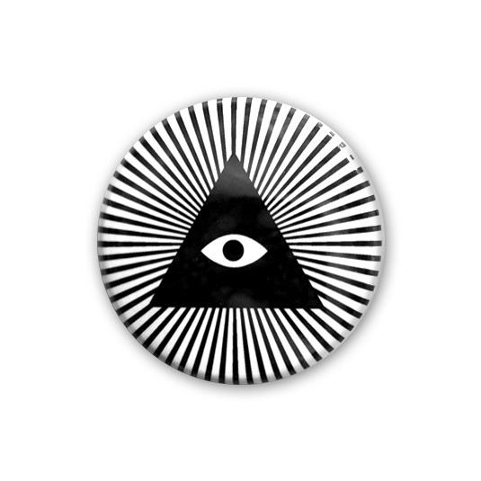 ぷろぴでんすの目の缶バッヂ