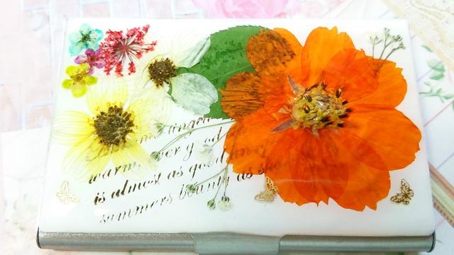 【送料込み】押し花の名刺・カードケース