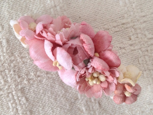 染め花のミニバレッタ(ピンク)